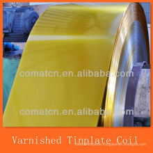 Golden Varnished and coated Electrical Tinplate Coil